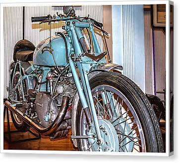 Canvas Print featuring the photograph 1950 Vincent Tt Flash by Steve Benefiel