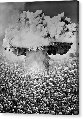 Atomic Bomb Canvas Print - 1950s 1960s Atomic Bomb Symbolic by Vintage Images