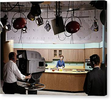 Observer Canvas Print - 1950s 1960s Camera Man And Director by Vintage Images