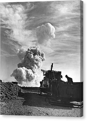 1950's Atomic Cannon Test Canvas Print by Underwood Archives
