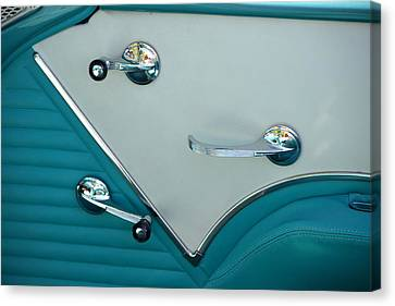 Canvas Print featuring the photograph 1950's Chevy Interior by Dean Ferreira