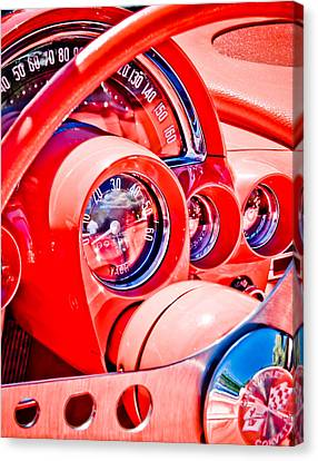 1950s Corvette Canvas Print by Phil 'motography' Clark
