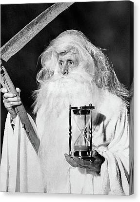 Father Time Canvas Print - 1950s Costume Elderly Man Long Beard by Vintage Images