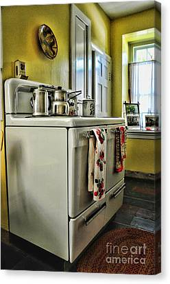 1950's Kitchen Stove Canvas Print by Paul Ward