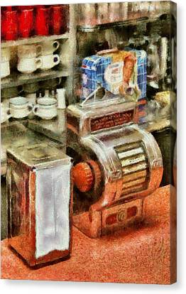 1950's - The Greasy Spoon Canvas Print by Mike Savad