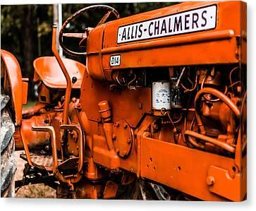 Antique Tractors Canvas Print - 1950s-vintage Allis-chalmers D14 Tractor by Jon Woodhams