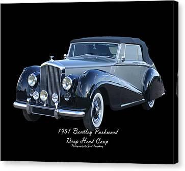 1951 Bentley M K  V I Drop Head Coupe Canvas Print by Jack Pumphrey