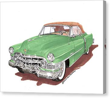 1951 Cadillac Series 62 Convertible Canvas Print by Jack Pumphrey