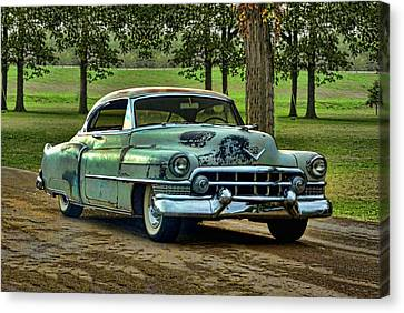 Canvas Print featuring the photograph 1951 Cadillac by Tim McCullough