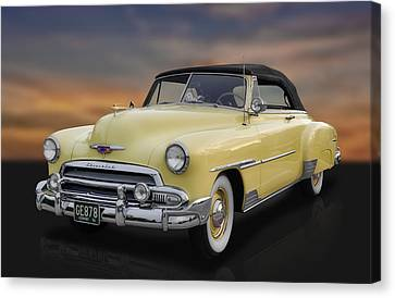 1951 Chevrolet Deluxe Convertible Canvas Print