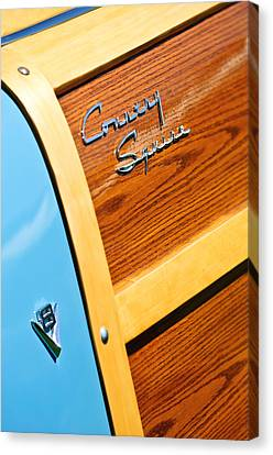 1951 Ford Country Squire Woody Wagon Side Emblems -3369c Canvas Print by Jill Reger