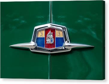1951 Plymouth Suburban Emblem Canvas Print by Jill Reger