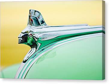 1951 Pontiac Streamliner Hood Ornament Canvas Print by Jill Reger