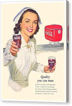 1952 - Coca-cola Advertisement - Color Canvas Print