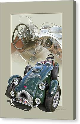 1952 Allard J2x Canvas Print by Roger Beltz