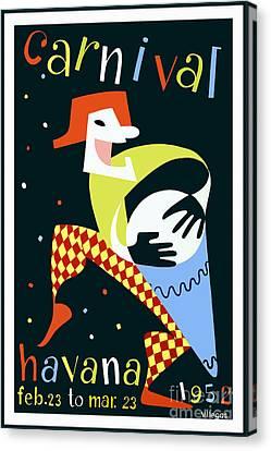 Nostalgia Canvas Print - 1952 Carnaval Vintage Travel Poster by Jon Neidert