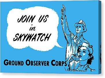 1952 Cold War Skywatch Poster Canvas Print by Historic Image