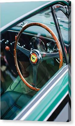 1952 Ferrari 212 Inter Vignale Coupe Steering Wheel Emblem Canvas Print by Jill Reger