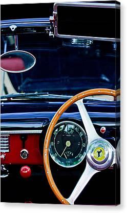 1952 Ferrari 212 Vignale Steering Wheel Canvas Print by Jill Reger