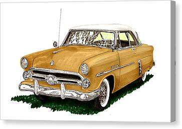 1952 Ford Victoria Canvas Print by Jack Pumphrey