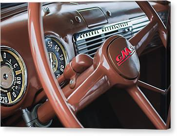 1952 Gmc Suburban Steering Wheel Emblem Canvas Print by Jill Reger