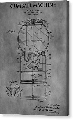 1952 Gumball Machine Patent Canvas Print by Dan Sproul