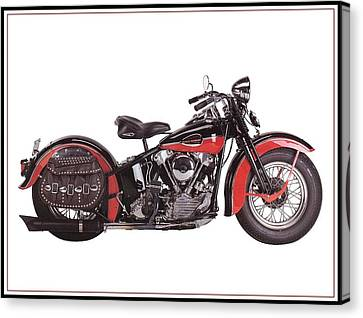 1952 Harley Davidson Canvas Print by Maciek Froncisz