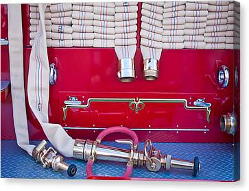 1952 L Model Mack Pumper Fire Truck Hoses Canvas Print by Jill Reger