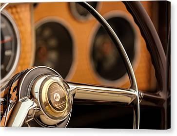 Sterling Canvas Print - 1952 Sterling Gladwin Maverick Sportster Steering Wheel Emblem -1848c by Jill Reger