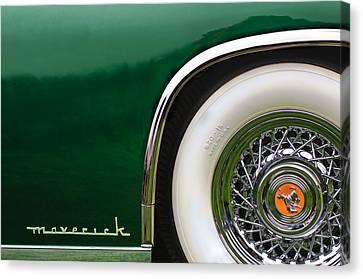 Sterling Canvas Print - 1952 Sterling Gladwin Maverick Sportster Wheel Emblem -0321c by Jill Reger