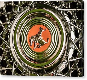 Maverick Canvas Print - 1952 Sterling Gladwin Maverick Sportster Wheel Emblem - 1720c by Jill Reger