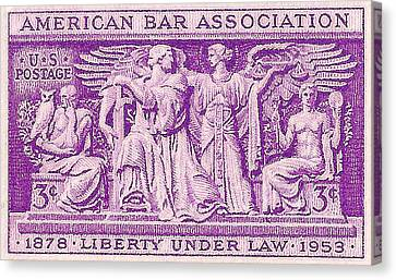 1953 American Bar Association Postage Stamp Canvas Print by David Patterson