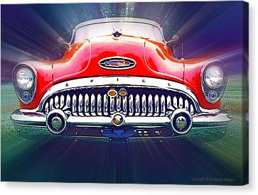 Canvas Print featuring the photograph 1953 Buick Roadmaster by Ed Dooley