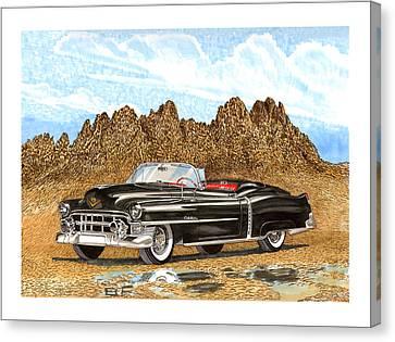 The Boulevards Canvas Print - 1953 Cadillac Eldorado Biarritz by Jack Pumphrey