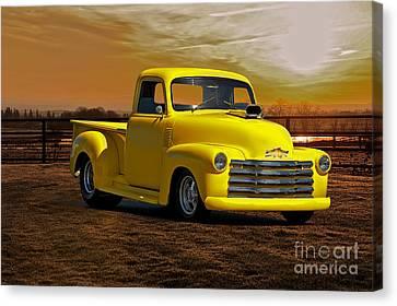 1953 Chevrolet Pick Up 'custom' Truck Canvas Print by Dave Koontz