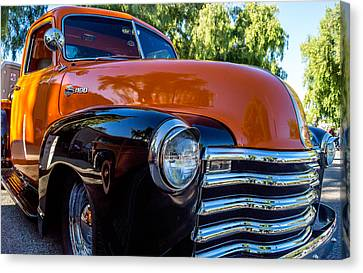 Canvas Print featuring the photograph 1953 Chevrolet Pickup by Steve Benefiel