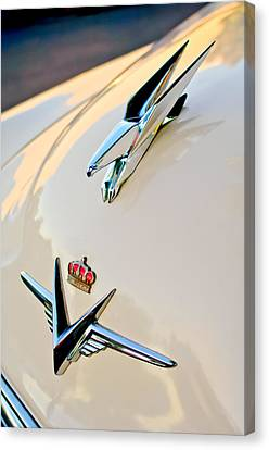 1953 Chrysler Imperial Custom Hood Ornament Canvas Print by Jill Reger