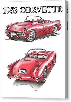 1953 Corvette Canvas Print