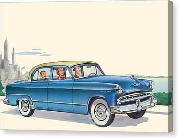 1953 Dodge Coronet Antique Car - Nostagic Americana - Vintage Tranportation Canvas Print by Walt Curlee