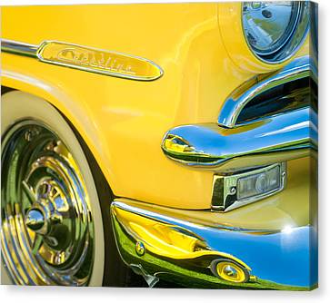 1953 Ford Crestline Convertible Emblem Canvas Print by Jill Reger