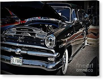 1953 Ford Customline In Classy Black Canvas Print by JW Hanley