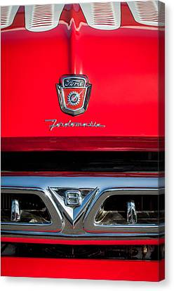 1953 Ford F-100 Fordomatic Pickup Truck Grille Emblems -0108c Canvas Print by Jill Reger