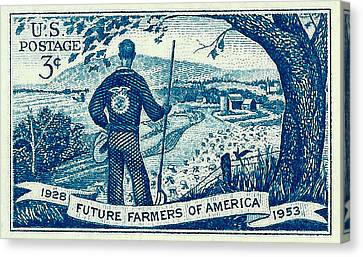 1953 Future Farmers Of America Postage Stamp Canvas Print by David Patterson