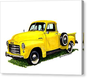 1953 G M C 5-window Pick-up Canvas Print by Jack Pumphrey
