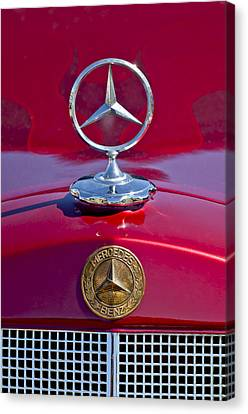 1953 Mercedes Benz Hood Ornament Canvas Print by Jill Reger