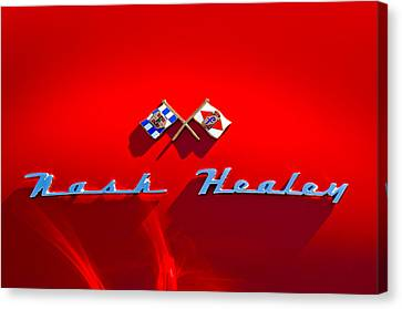 1953 Nash-healey Roadster Emblem Canvas Print by Jill Reger