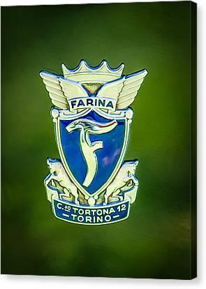 Daina Canvas Print - 1953 Siata Daina Farina Emblem by Jill Reger