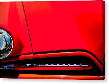 Grill Canvas Print - 1953 Studebaker Coupe Grille Emblem by Jill Reger