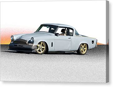 1953 Studebaker 'in Process Primer' Canvas Print by Dave Koontz