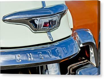 1954 Chevrolet Panel Truck Hood Emblem Canvas Print by Jill Reger